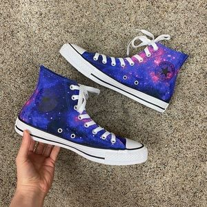 NWT Galaxy High Top Converse Sneakers